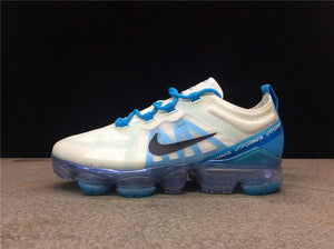 Nike Air Vapormax 2019 White Blue Black Women's Running Shoes Sneakers AR6632-003