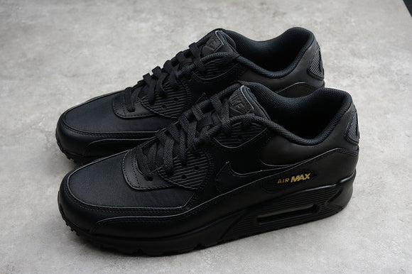 Nike AIR Max 90 Premium Black Black Metallic Gold Men Shoes Sneakers Size 40-45 / 7-11 700155-011