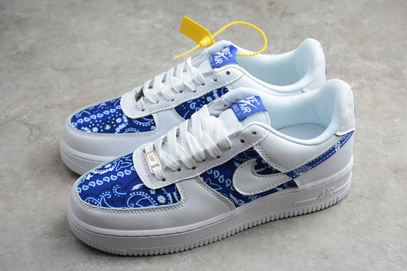 Nike AIR FORCE 1 Low 07 Para noise White Blue Men Women Sneakers Shoes BW9953-100