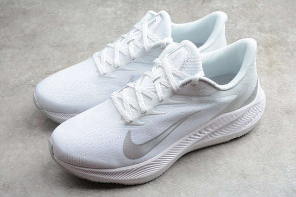 Nike Zoom Winflo 7 All White White White Men Women Sneakers Shoes CJ0301-004