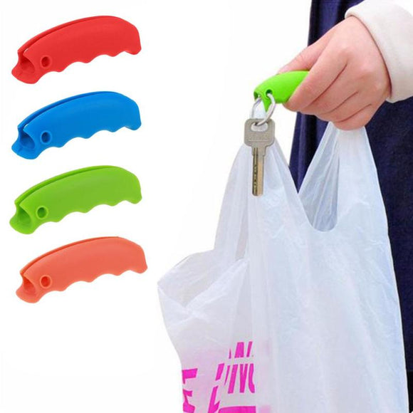 1PC Convenient Bag Hanging Quality Mention Dish Carry Bags Kitchen Gadgets Silicone Candy Color Save Effort Tools - 88digital