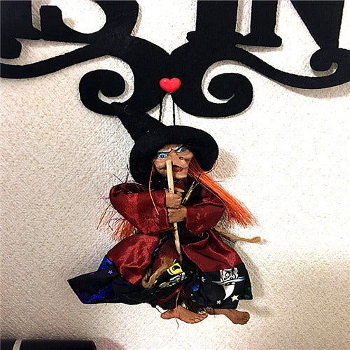 1Pcs Halloween Hanging Ghost Witch Props Scary Party Bar Decoration Party Supplies Hanging Ornament - 88digital
