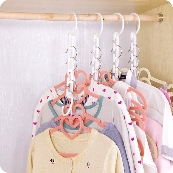 1Pcs New 3D Space Saving Hanger Magic Clothes Hanger with Hook Closet Organizer Home Tools F2961 - 88digital