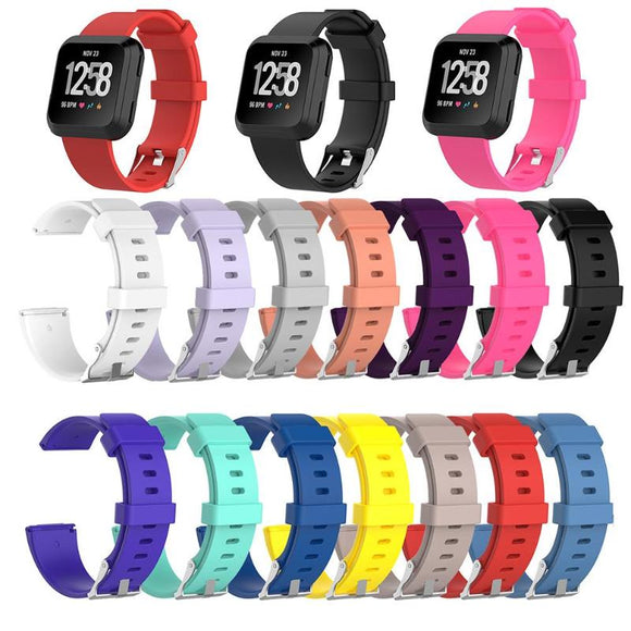 1Pcs Soft Silicone Replacement Sport Wristband Watch Band Strap for Fitbit Versa Bracelet Wrist Watchband Colorful  S L Size - 88digital