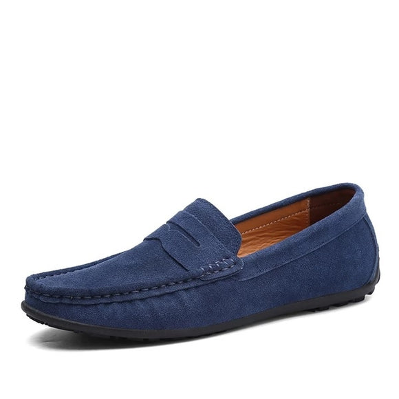 Spring Summer Hot Sell Moccasins Men Loafers High Quality Genuine Leather Shoes Men Flats Lightweight Driving Shoes - 88digital