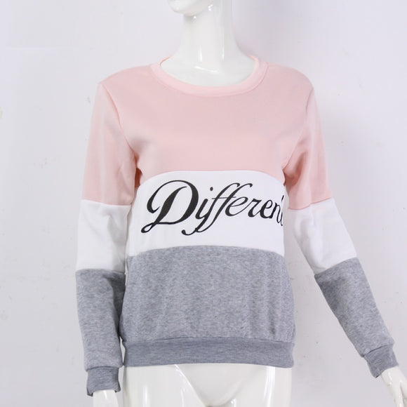 Fleeve hoodies printed letters Different women's casual sweatshirt hoody - 88digital