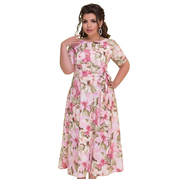 5XL 6XL printing Chiffon long dress plus size female maxi dress Autumn Winter women big sizes vintage casual dress - 88digital