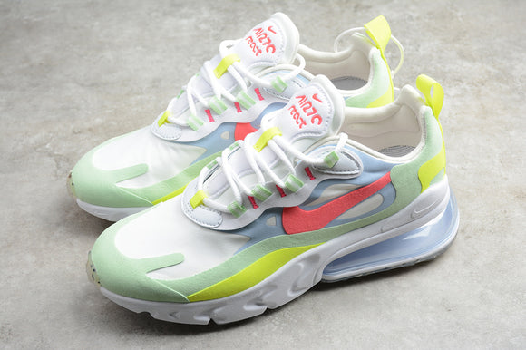 NIKE AIR MAX 270 React White Lighting Crimson White / White Flash Crimson Cucumber Green Men Women Shoes Sneakers Size 36-45 / 5.5-11 DB5927-161