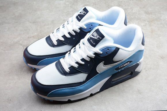 Nike AIR Max 90 Essential UNC White Pure Platinum University Blue Men Shoes Sneakers AJ1285-105