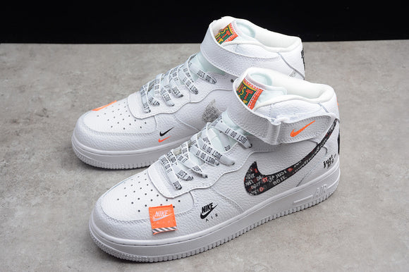 Nike Air Force 1 '07 MID PRM Just Do It AF1 White Orange Joint Name Men Women Sneakers Shoes Size 36-45 / 5.5-11 BQ6474-100
