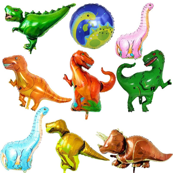 1pc Giant Dinosaur Foil Balloon Boys Animal Balloons Children's Dinosaur Party Birthday Decorations Helium Balloons Kids Toys - 88digital