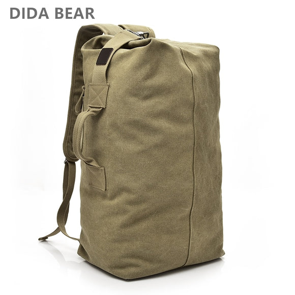 Large Capacity Rucksack Man Travel Bag Mountaineering Backpack Male Luggage Boys Canvas Bucket Shoulder Bags Men Backpacks - 88digital