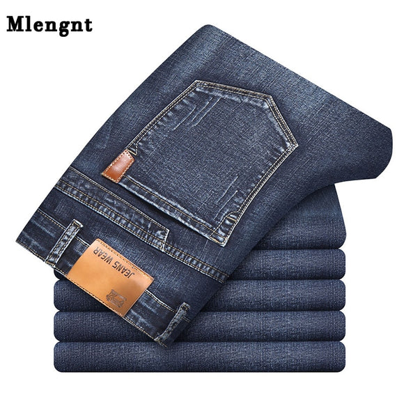 Business Mens Classic Denim Jeans Black Summer Thin Slim Fit Pants High Stretch Fashion Skinny Male Vintage Jeans - 88digital