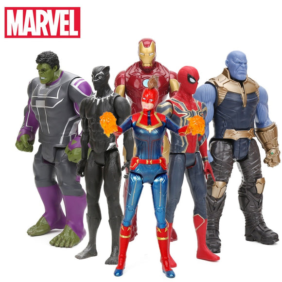 2019 29cm Marvel Captain the Avengers 4 Toys INFINITY WAR Thanos Action Figures TITAN HERO SERIES Figure Collectible Model Toy - 88digital