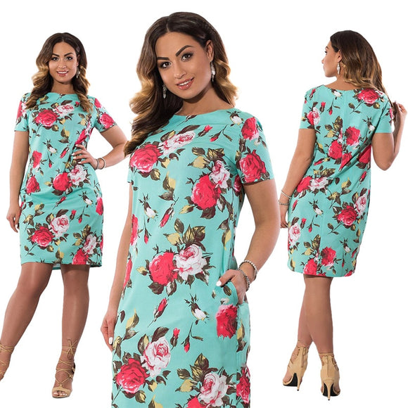 Autumn Plus Size Dress Europe Female Fashion Printing Large Sizes Pencil Midi Dress Women's Big Size Clothing 6XL Vestidos - 88digital