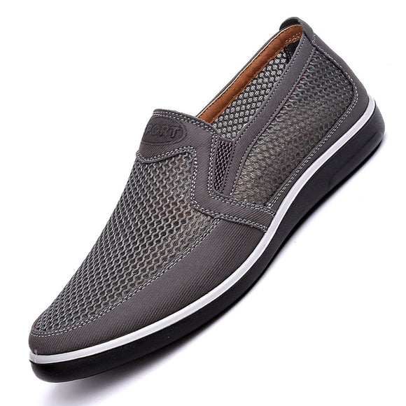 Men'S Casual Shoes,Men Summer Style Mesh Flats For Men Loafer Creepers Casual High-End  Shoes Very Comfortable Size:38-44 - 88digital