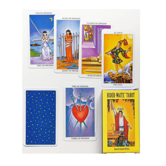 2019 New  English version Rider Wait Tarot deck divination fate playing cards board game Spanish divination - 88digital