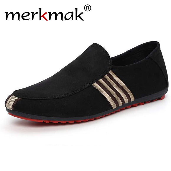 Spring Men Suede Leather Loafers Driving Shoes Moccasins Summer Fashion Men's Casual Shoes Flat Breathable Lazy Flats - 88digital