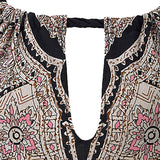 Women Halter Neck Boho Print Sleeveless Bodycon Mini Beachwear Sundress Big Size - 88digital