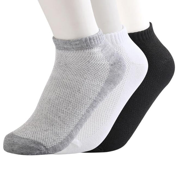20Pcs=10Pair ECMLN Breathable Men's Socks Short Ankle Socks Men Solid Mesh High Quality Male Boat Socks - 88digital
