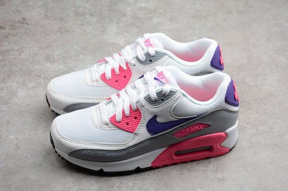 Nike AIR Max 90 Essential White Court Purple Wolf Grey Women Shoes Sneakers 325213-136