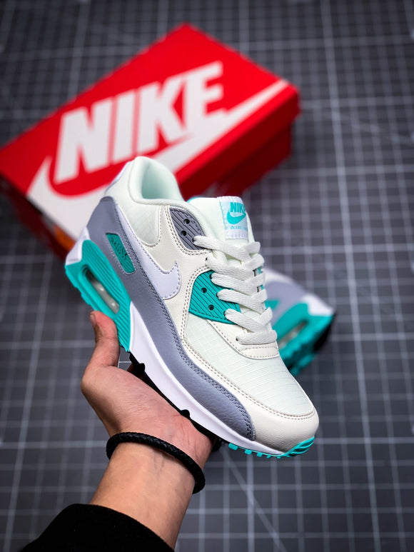 Nike AIR Max 90 White Blue Grey Women Shoes Sneakers Size 36-40 / 5.5-8.5 325213-140