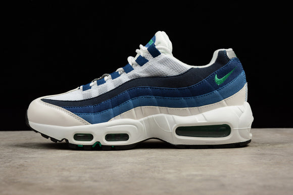 Nike AIR MAX 95 OG White French Blue Lake White Emerald Green Men Shoes Sneakers Size 39-44 / 6.5-10 554970-131