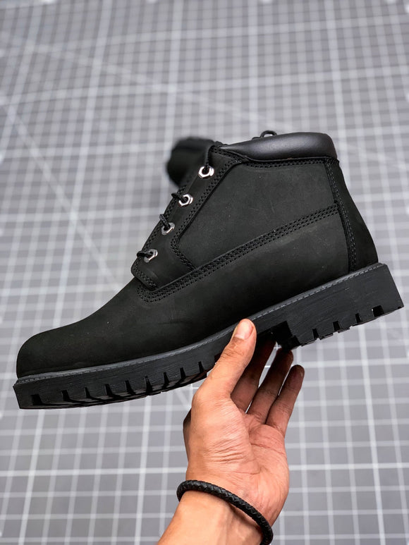 TIMBERLAND MEN WOMEN Classic Black Black Black Medium Height Premium Boots Waterproof 77112396