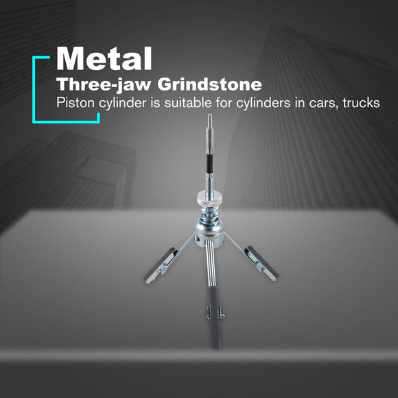 3 Jaw Adjustable Car Engine Cylinder Hone Stones Flexible Shaft Bore Honing Tension Tool 3 Jaw Bore Honing Tool - 88digital