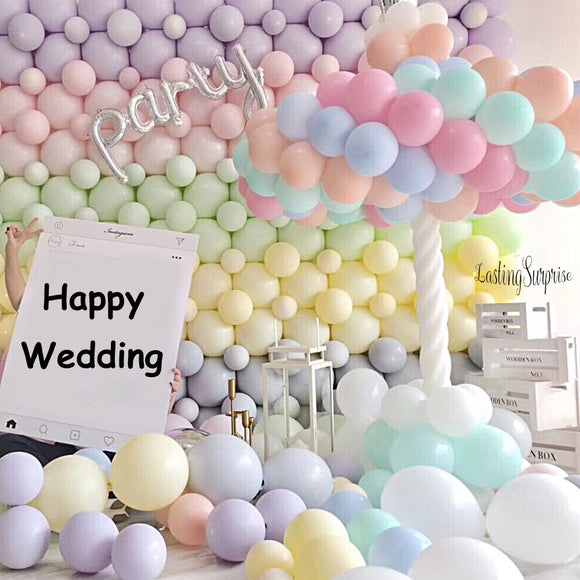 30pcs Mix Color Macaron Balloons Wedding Birthday Party 2.2g Pink Mint Rose Air Helium Latex Baby Decor Baby Shower Girls - 88digital