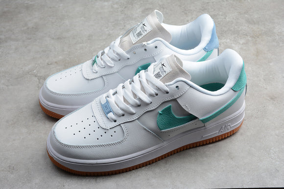 NIKE AIR Force 1 '07 LX Vandalized Sale Green Light Blue/ White Green Men Shoes Sneakers BV0740-100