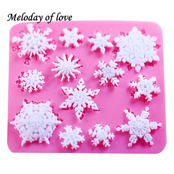 Snowflake 3D christmas decorations chocolate silicone mold - 88digital