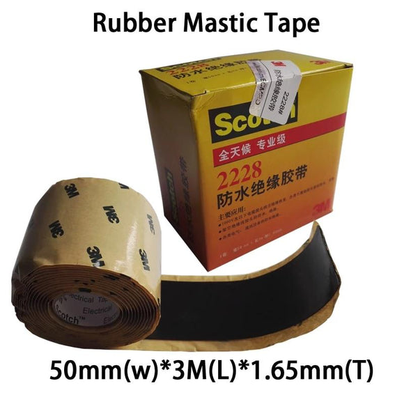 3M 2228# Rubber Mastic Tape, Electrical Insulation Tape, Self-fusing Weather and Moisture Resistance, Power cable Jacket Seal - 88digital