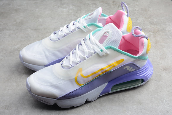 Nike AIR MAX 2090 White Violet Pink Bright Yellow Men Women Shoes Sneakers CT7698-009