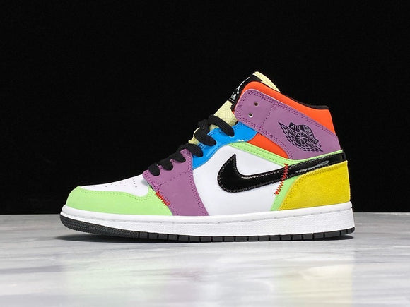 Nike Air Jordan 1 MID SE Light bulb Multi Color Men Women Shoes Sneakers Size 36-47 / 5.5-13 CW1140-100