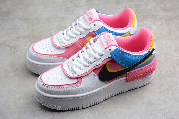 Nike Air Force 1 '07 AF1 White Peach Black Low Shadow White Pink Black Blue Women Sneakers Shoes CI0919-02