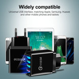 48W Quick Charge 4.0 3.0 4 Port USB Charger USB Fast Charger QC4.0 QC3.0 For Samsung Note 10 Xiaomi Mi9 iPhone 11 X Wall Adapter - 88digital