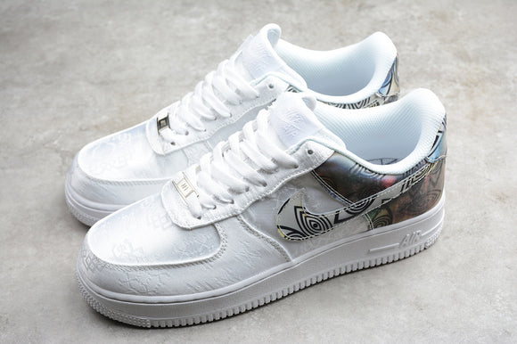 Nike Air Force 1 '07 AF1 Low 07 WB White Grey Colorful Men Women Sneakers Shoes AO6820-100
