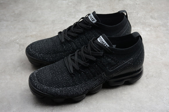 Nike Air Vapormax Flyknit 2.0 Black Black Grey Men Shoes Sneakers 942842-101