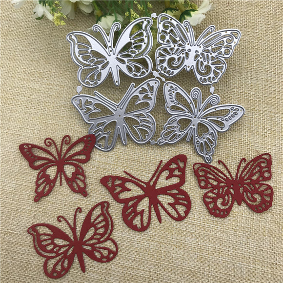 4pcs butterfly Metal Cutting Dies Scrapbooking Album Paper Cards - 88digital