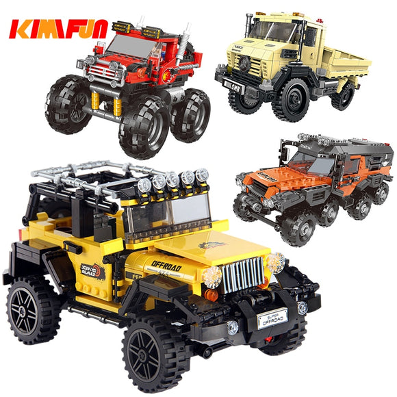 500+pcs Car Series All Terrain Vehicle Set Building Blocks Model Bricks Toys For Kids Educational Gifts  Compatible with Legoing - 88digital