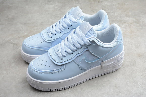 Nike Air Force 1 '07 AF1 07 Low Shadow Hydrogen Blue White Women Sneakers Shoes Size 36-40 / 5.5-8.5 CV3020-400