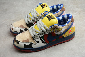 NIKE SB DUNK Low Pro IW Pro Navy Blue Multi Color / White Red Yellow Men Women Shoes Sneakers Size 36-45 / 5.5-11 318403-175