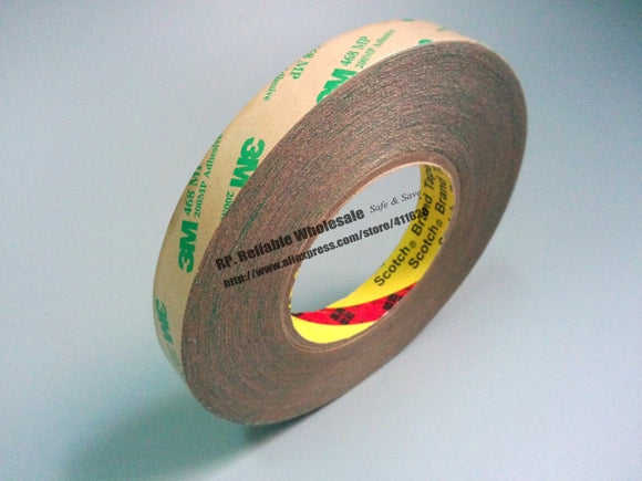 55 meters/roll, 3M 468MP 200MP Double sided adhesive tape Transparent - 88digital