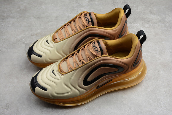 Nike Air Max 720 Champagne Gold Gradient / Desert Wheat Black Club Gold Men Women Shoes Sneakers AO2924-700