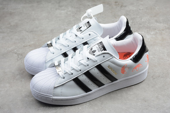 Adidas Superstar Cloud White Core Black Orange Men Women Shoes Sneakers FX2246 Size 36-45.5 / 5-11