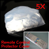 5Pcs Heat Shrink Film TV Air-Conditioner Video Remote Control Protector Cover Waterproof Protective Dust Case Covers - 88digital