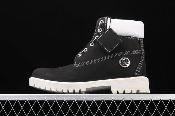 TIMBERLAND MEN WOMEN Classic Hommes X Mastermind Japan Black White 6 inch Premium Boots Waterproof 6735R