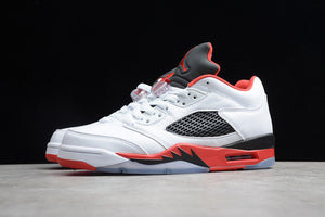 Nike AIR JORDAN 5 Retro Low Fire Red White Black Red Men Shoes Sneakers Size 40-47.5 / 7-13.5 314338-101