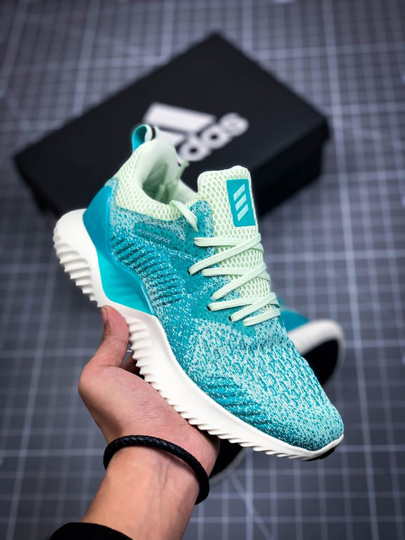 Adidas ALPHABOUNCE Beyond Blue Green Men's Women's Shoes Sneakers